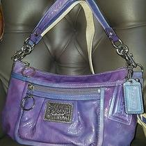 Limited Edition Rare Coach Poppy Patent Galaxy Ombre Violet Groovy Crossbody Photo