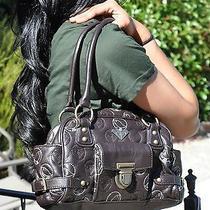 Limited Edition Roxy Handbag Purse Birds Pebbled Dark Brown Photo