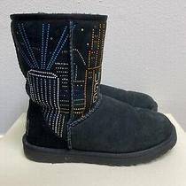 Limited Edition Ugg X Swarovski Crystals Black Boots Hong Kong Theme Sz 7 Photo