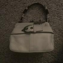 Limited Edition White Coach Purse With Matching Coach Wallet Photo