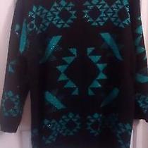 Limited Express Size L Sweater W/geometric Metallic Design Soft Warm & Cozy Photo