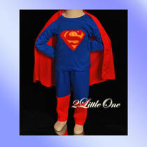 Limited Offer Superman Hero Kid Boy Fancy Party Costumes Outfit Size 6-7 006 Photo