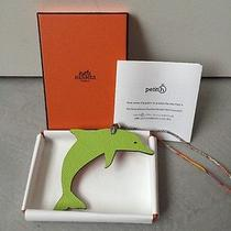 Limited Rare Hermes Petit H Dolphin Charm Kiwi/orange Match Ur Cdc Bag Photo