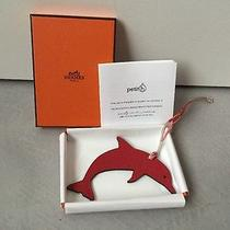 Limited Rare Hermes Petit H Dolphin Charm Red/choco Match Ur Cdc Bag Photo
