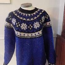 Limited the American Collection Knit by Hand Sweater Size Small Wool Ski  Photo