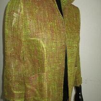 Linda Allard Ellen Tracy Petite Size 0 Blazer /jacket 90% Linen Photo