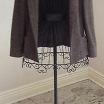 Linda Allard Ellen Tracy Women's Jacket Brown Wool and Silk Size 4 Petites Photo