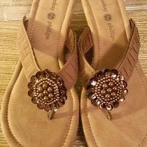 Lindsay Phillips Switchflops Velcro Top Nicole Natural Tan  Brown Sandal Wedge. Photo