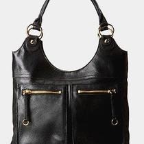 Linea Pelle Black Leather Dylan Tote-Shoulder Bag Nwt  Authentic Photo