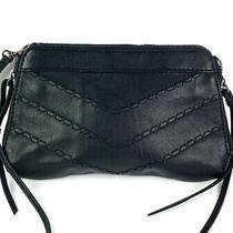 Linea Pelle Clutch Wristlet Black Leather Case Wallet Night Out Bag Photo