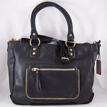 Linea Pelle Dylan Crossbody Tote in Black Nwt Photo