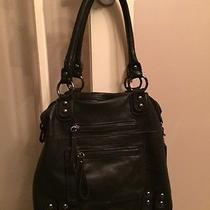 Linea Pelle Dylan Leather Tote - Black - Euc - Like New Photo