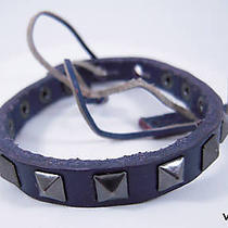 Linea Pelle Skinny Studed Pyramid Bracelet in Violet Photo