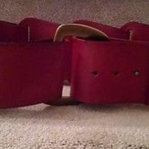 Linea Pelle Wide Rust Leather Belt Size Small Fantastic Photo