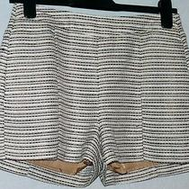 Lined Shiny Striped Shorts Size 8 h&m Metallic Fibres Photo