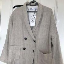 Linen Blazer With Lining Size Small Zara Photo