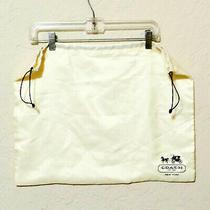 Linens Lingerie Bag Coach Draw String Eggshell White Usa Seller Photo