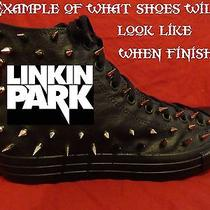 Linkin Park Punk Rock Custom Studded Converse Chuck Shirt Sneakers Shoes Spikes Photo