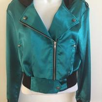 Lip Service Jacket M Aqua Motorcycle  Photo