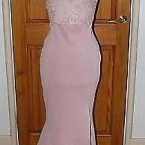 Lipsy Blush Lace Sequin Evening Party Occasion Maxi Dress Size Uk 16p Bnwt  Photo