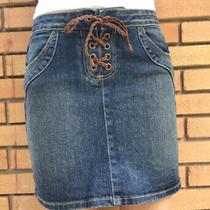 Liquid Jeans for Express Denim Skirt Size 2  Photo