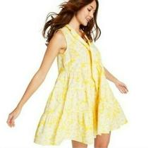 Lisa Marie Fernandez Yellow Floral Tiered Dress Size Xl  Photo