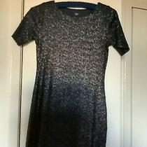 Little Black Sequins  Dress Size 6 F & F Used (Barely) Excellent Condition Photo