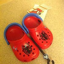Little Boys Nwt Marvel Spider-Man Crocs Size 4/5 Photo