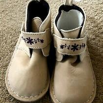 Little Girls Leather Booties Size 7 Baby Gap  Photo