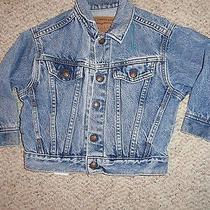 Little Levis Vintage Toddler Orange Tab Denim Jacket Size 3t Worn in Feel Jj30  Photo