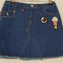 Little Marc Jacobs Blue Denim Skirt Size 12 / 150cm. Photo
