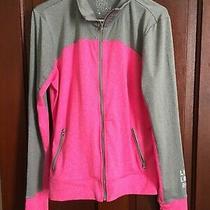Live Love Dream Aeropostale Large Pink / Gray Athletic Zip Up Jacket Photo