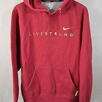 Livestrong Hoodie Large Nike Red Hooded Sweatshirt Bike Cycling  Photo