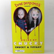Living Dead Doll Chucky Tiffany 2 Piece Set Mezco 10