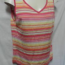 Liz Claiborne 2 Pcs L Large Womens Blouse Top Slinky Material Bright Colors Photo