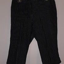 Liz Claiborne - Bermuda Shorts - Size 12p - 98% Cotton -  2 Lycra - Blue Stripes Photo