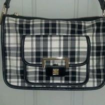 Liz Claiborne Black/white Plaid Shoulder Bag / Purse Lk Nu Cc-B2 Photo