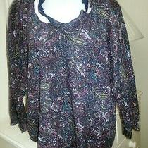Liz Claiborne Blue Paisley Top Size 2x Nwt Free Shipping Photo