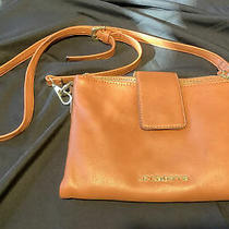 Liz Claiborne Brown Leather Pebbled Purse Crossbody Bag W/ Built-in Wallet Photo
