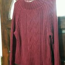 Liz Claiborne Cable Knit Sweater Size Large Photo