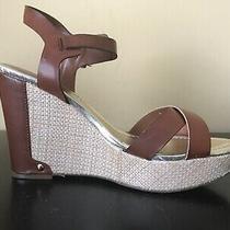 Liz Claiborne Cece  Brown Wedge Sandals Heels Shoes Size 9 Photo