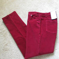 Liz Claiborne Corduroy Jeans  Stretch   Biking Red  Size 24w   Nwt Photo
