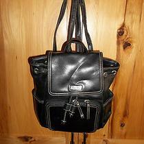 Liz Claiborne Crazy Horse Women's Black Backpack Handled Purse Vguc Photo