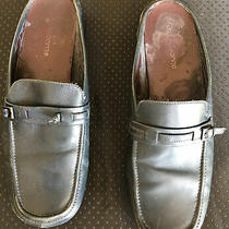 Liz Claiborne Flex Womens Blue Slides Mules Clogs Block Heels Shoes 8.5m Soft Photo