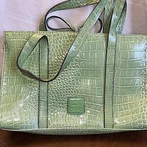 Liz Claiborne Green Purse Handbag Nice Condition Tassel Photo