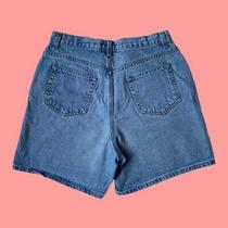 Liz Claiborne High Waisted Classic Fit Jeans Shorts Size 10 Blue Photo