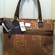 Liz Claiborne Laptop Tablet Tote Large Logo Cocoa Beach Luggage Series 200 Nwt  Photo