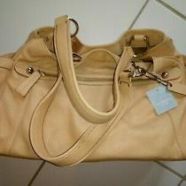 Liz Claiborne Large Brown Tan Leather Shoulder Hobo Tote Satchel Purse Bag Nwt  Photo