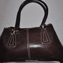 Liz Claiborne Large Shoulder Bag Brown Purse Photo