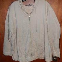 Liz Claiborne Light Tan Zippered Hoodie Size 2 Photo